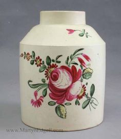pottery tea caddy | Antique pottery, creamware, delft, Staffordshire, pearlware and ...