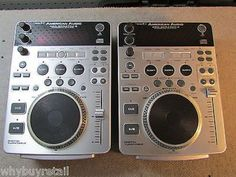 Pair- American Audio Pro-Scratch 2 Professional Cd Players - Digital Turntables