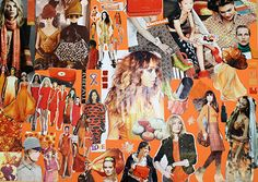 #orange mood.  Colours for my mood board for Autumn and Winter