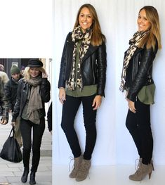 J's Everyday Fashion provides outfit ideas, budget fashion, shopping on a budget, personal style inspiration, and tips on what to wear. Green Blouse Outfit, Green Shirt Outfits, Bluse Outfit, Leather Jacket Outfits, Olive Green Pants Outfit, Olive Green Boots, Olive Green Top, Olive Pants, Casual Fall Outfits