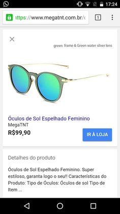 29 melhores imagens de óculos de sol no Pinterest   Sunglasses ... 57f756c313