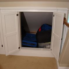 Knee Wall Storage Design, Pictures, Remodel, Decor and Ideas