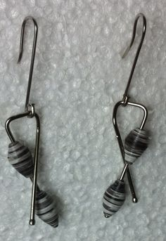 Recycled paper earrings by Sanja