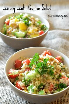 Lemony Lentil Quinoa Salad