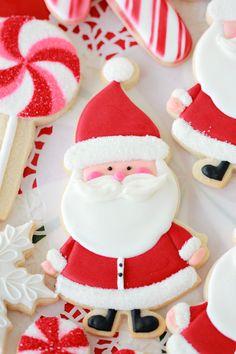 Santa Claus Decorated Cookie