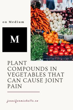 We're always told to eat our vegetables but what if they are the source of our joint pain? It's certainly been true for me. Nightshades, oxalates, and lectins all give my rheumatoid joint pain. Learn where these compounds are hiding so you can see if you can find pain relief by avoiding them. #jointpain #painrelief #nightshades #lectins #rheumatoid #arthritis #jennifermichelleco Lion Diet, Health And Wellness, Women's Health, Health Tips, Mental Health, Lectins, Real Food Recipes, Healthy Recipes, Healthy Aging