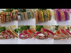 New Designer Silk Thread Bangles Collection Silk Thread Bangles Design, Kundan Bangles, Latest Trends, Handmade Jewelry, Jewellery, Mom, Youtube, Collection, Jewelery