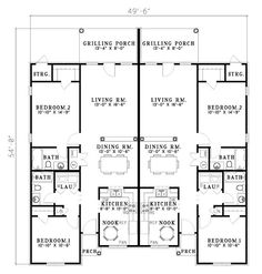 Plan Number Bhg 7062 Multi Family Homes Home And Duplex Design