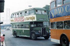 55, Alcântara-Mar (Wood's Library, 1980) Double Decker Bus, Bus Coach, Portugal Travel, Old City, Public Transport, Historical Photos, Lisbon, Buses, Portuguese