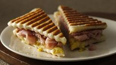 Cuban style panini - you make the bread from Pillsbury refrigerated dough - but it's so quick and GOOD!