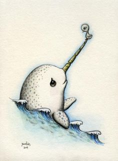 Image shared by ah! Find images and videos about cute, art and water on We Heart It - the app to get lost in what you love. Art And Illustration, Illustrations, Narwhal Drawing, Cute Narwhal, Baby Narwhal, Design Tattoo, Unicorns And Mermaids, Wale, Cartoons