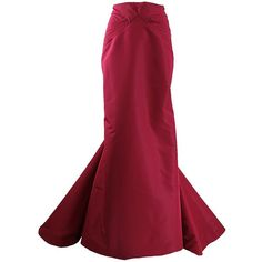 Zac Posen Twisted Seam Long Skirt ($3,290) ❤ liked on Polyvore