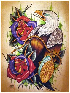 The Art of David Tevenal Tattoo Design Drawings, Tattoo Sketches, Tattoo Designs, Drawing Tattoos, Traditional Tattoo Art, Traditional Ink, Eagle Tattoos, New Tattoos, Tatuagem New School