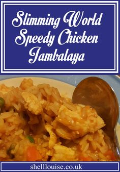 Speedy Chicken Jambalaya - Slimming World Recipe - Shell Louise Chicken Jambalaya, Jambalaya Recipe, Rice Recipes, Fall Recipes, Recipies, Slimming World Chicken Recipes, Healthy Snacks, Healthy Recipes, Low Fat Diets