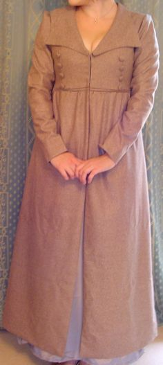 """Cassandra Redingote from Marion May. I like it in """"honey beige"""", """"grey"""", or """"brown"""" pure Melton wool fabric."""