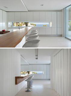 Fenster Idee in einer weißen Küche