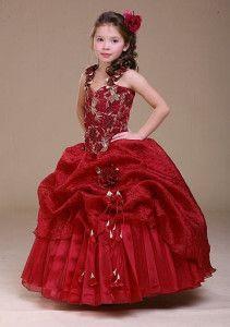 790d27606 imagenes de vestidos de fiesta para niñas pequeñas rojo