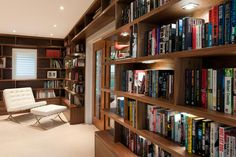 Bespoke home library with beautiful integrated lighting