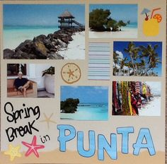 Scrapbook Punta Cana 1st page