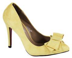 Pantofi Stiletto - Pantofi galbeni stiletto XQ330G - Zibra