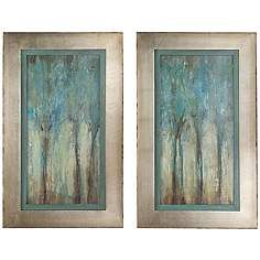 """327.00  11/3/16 shipped directly to facility Uttermost Set of 2 Whispering Wind 35"""" Wall Art Prints"""