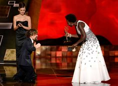 Peter Dinklage, left, andViola Davis each won acting awards at the 2015 Emmys. Ms. Davis's win was historic.