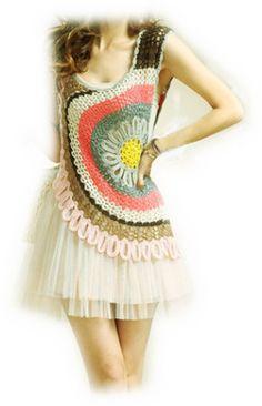 Crochet Blouse Crochet  Bolero / Jachet Handmade Top / Vest /Shrug