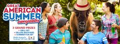 Summer is upon us, and Frank the Frontier Buffalo wants to make it the best one ever. Enter Frontier's Great American Summer Sweepstakes now for your chance to win a Dyna-Glo® Dual Charcoal Grill, Gazebo, summer games and more!