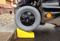 Disabled people often need personalized equipment to help with their individual needs. Could 3D printing provide a cheap and efficient solution? From the BBC Ouch disability blog.  Image: Wheel, curb, and 3D-printed portable wheelchair ramp made by Raul Krauthausen.