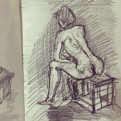 #pencil #lifedrawing at #novacancygallery