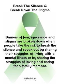 End the stigma! More