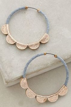 Molly M Scalloped Hoops #AnthroFave