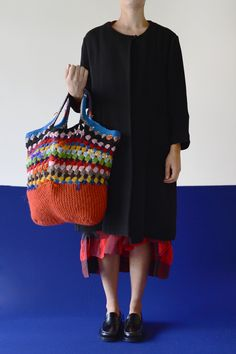12. ub125.vari.multi.f peach crochet bag