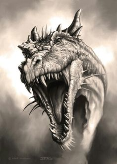 He found it often was unnecessary to use the fire; his roar was enough to send them scattering. Dragon