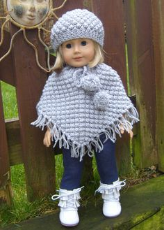 18 Blackberry Poncho Set for 18inch dolls PDF by jacknitss on Etsy