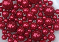 Unique Vase Fillers - 34 Oversize Red Pearl Beads - Includes Free Water Gel so They Will Float by LifeWorx, http://www.amazon.com/dp/B009WTHFZ8/ref=cm_sw_r_pi_dp_Jfbksb0XC88S9