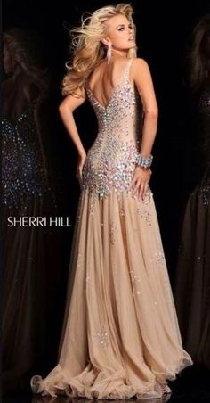 Sherri Hill Embellished Chiffon Gown 2013 that looks Vintage Inspired by Old Hollywood Glamor PROM Prom Dress 2013, Dresses 2013, Formal Dresses, Wedding Dresses, Formal Prom, Spring Dresses, Sherri Hill Prom Dresses, Prom Gowns, Pageant Dresses