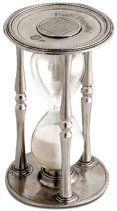 Clessidra cm h 19 - 30 minutes (Peltro, Vetro) - collezione: Talete. Cosi Tabellini.