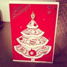 Kerstboom van taartkleedjes