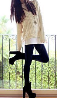 knit white sweater