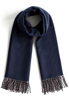 Contrast Woolen Scarf in Blue - scarf - Goods - Retro, Indie and Unique Fashion