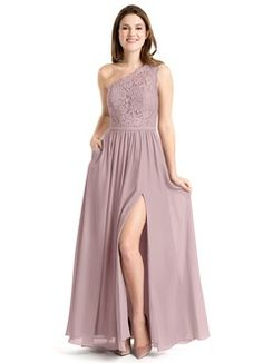 Shop Azazie Bridesmaid Dress - Azazie Justine in Chiffon. Find the perfect made-to-order bridesmaid dresses for your bridal party in your favorite color, style and fabric at Azazie. Dusty Blue Bridesmaid Dresses, Grey Bridesmaids, Azazie Bridesmaid Dresses, Wedding Dresses, Lavender Bridesmaid, Prom Gowns, Bridesmaid Bouquet, Wedding Attire, Custom Dresses
