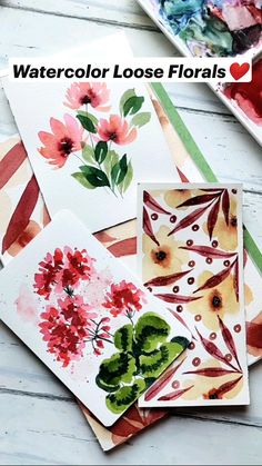 Watercolor Art Lessons, Watercolor Paintings, Flower Drawing Tutorials, Creative Arts And Crafts, Cool Art Drawings, Diy Canvas Art, Meraki, Watercolours, Diy Painting