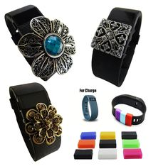 Value Bundled Bling Band Charm Jewelry Accessories, Pendants and Bonus Fastener (With some Styles) for fitbit Charge, Charge 2 or Charge HR {TM} > Quickly view this special  product, click the image : Fitness Technology