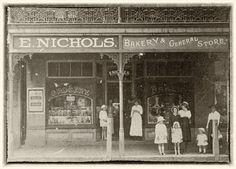 Nichols Bakery & General Store, Windsor Street, Richmond, NSW, probably Sydney Australia, Western Australia, Old Pictures, Old Photos, Old General Stores, South Windsor, First Fleet, Australian Road Trip, Old Folks