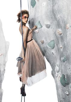 Yes because I rock climb in my dress and heels as well. Thank you pintrest for showing me I'm not alone