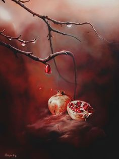 Pomegranate Art, Still Life Flowers, Persephone, Hades, Deities, Mythology, Pop Art, Grenades, Pomegranates