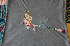 Reverse applique -- a way to make plain tshirts awesome.