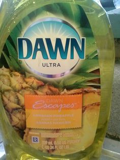 Hawaiian Pineapple DAWN dish soap. Amazing smell! love it. Dawn Dish Soap, Home Remedies, Hawaiian, Pineapple, Cleaning, Dishes, Amazing, Food, Products