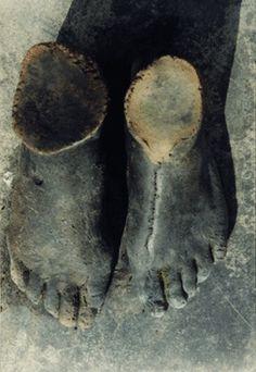 Raku ceramic cast feet. Ceçile Renaud